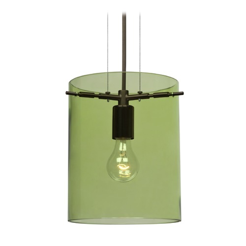Besa Lighting Besa Lighting Pahu Bronze Mini-Pendant Light 1KG-L00607-BR-NI