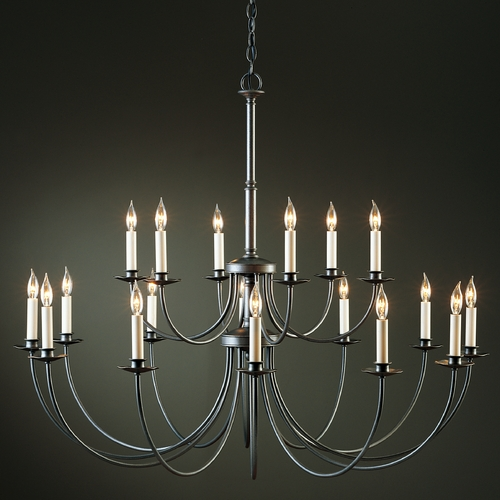 Hubbardton Forge Lighting Hubbardton Forge Lighting Simple Lines Natural Iron Chandelier 19714418LC-20-CTO
