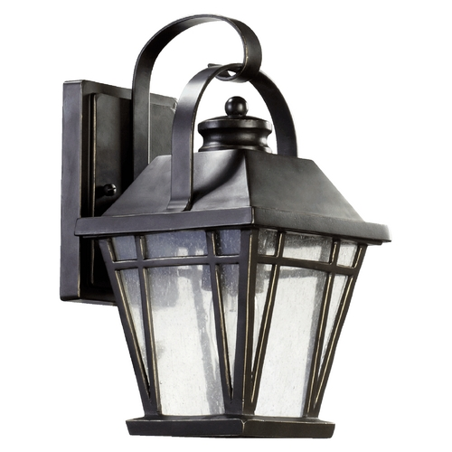 Quorum Lighting Seeded Glass Outdoor Wall Light Bronze Quorum Lighting 764-6-95