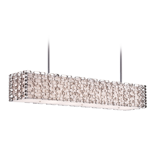 Avenue Lighting Avenue Lighting Ventura Blvd Polished Nickel Island Light with Rectangle Shade HF1700-PN