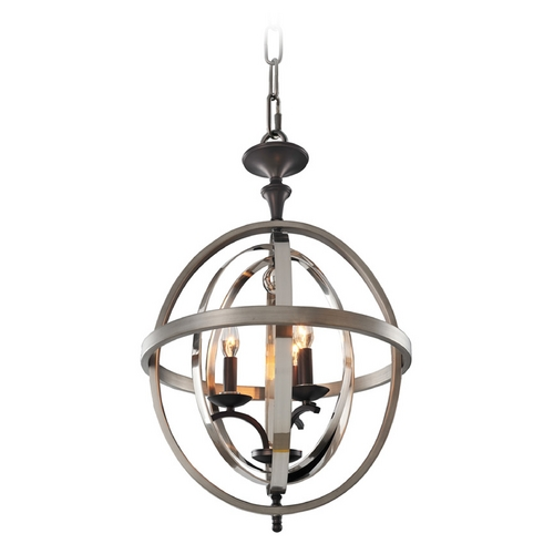 Kalco Lighting Kalco Lighting Rothwell Polished Satin Nickel Pendant Light 6593PSN