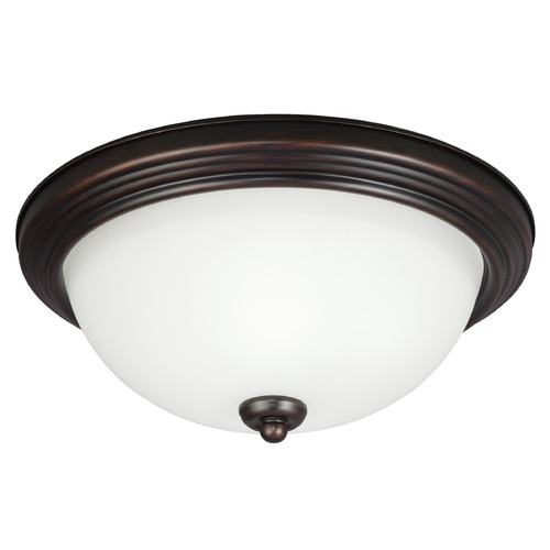 Sea Gull Lighting Sea Gull Lighting Ceiling Flush Mount Burnt Sienna LED Flushmount Light 7726391S-710