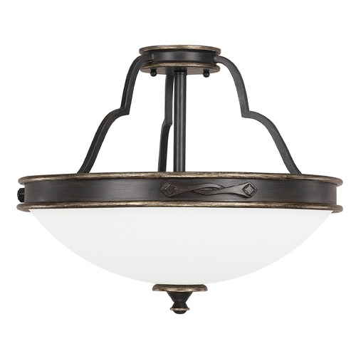 Capital Lighting Capital Lighting Wyatt Surrey Semi-Flushmount Light 4253SY