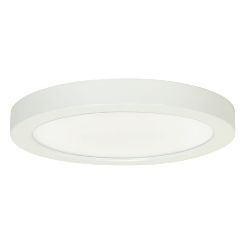 Satco Lighting Satco 9-Inch Round White LED Flush Mount Light 18.5W 3000K 1200LM S9686