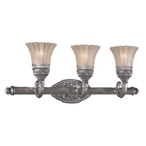 Minka Lavery Bathroom Light with White Glass in Brushed Nickel Finish 5763-2560-84