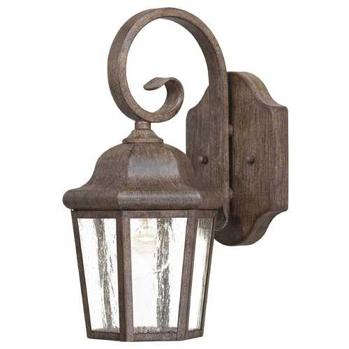 Minka Lavery Outdoor Wall Light with Clear Glass in Vintage Rust Finish 8611-A61