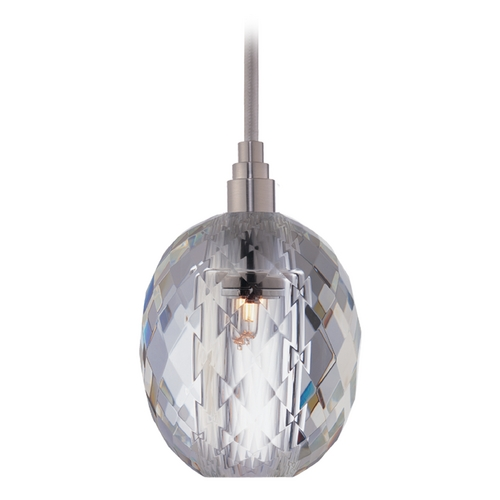 Hudson Valley Lighting Modern Mini-Pendant Light with Clear Glass 3511-SN-S-002