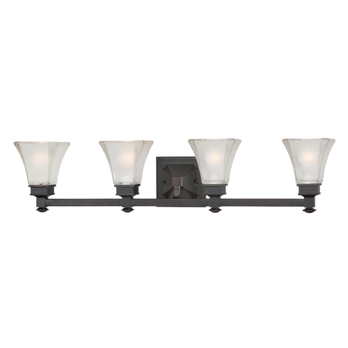 Designers Fountain Lighting Bathroom Light with White Glass in Biscayne Bronze Finish 6664-BBR