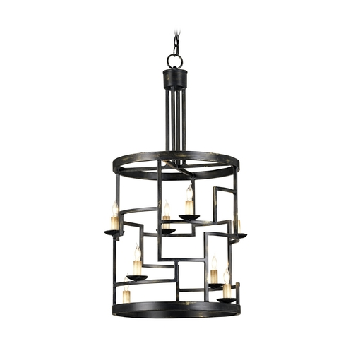 Currey and Company Lighting Pendant Light in French Black Finish 9419