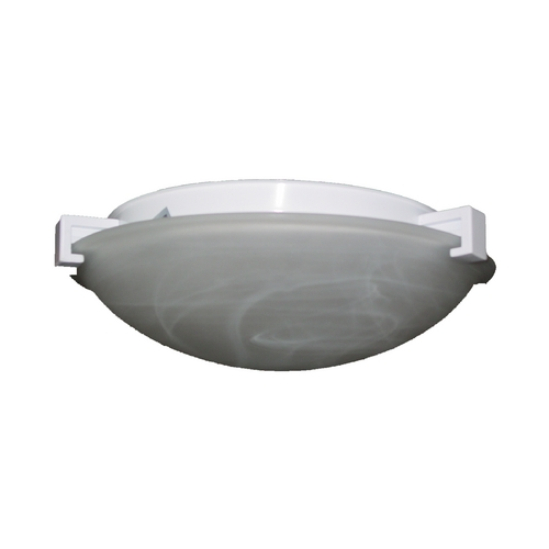 PLC Lighting Modern Flushmount Light with White Glass in Natural Iron Finish 7019  IR