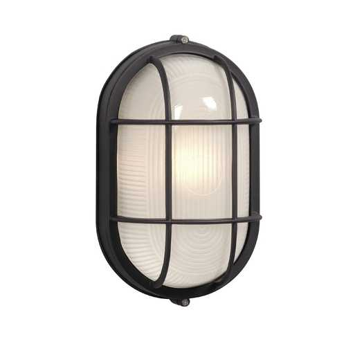 Oval Marine Bulkhead Light In Black Finish Ex305013bk