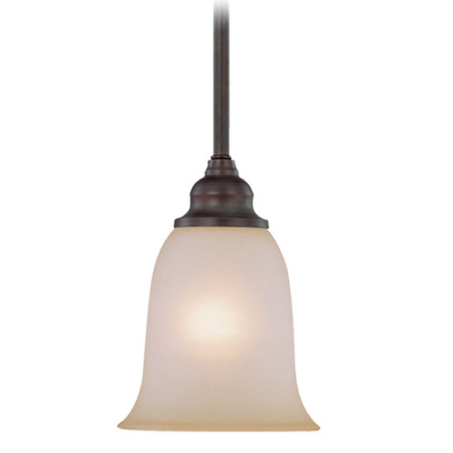 Craftmade Lighting Craftmade Linden Lane Old Bronze Mini-Pendant Light with Bell Shade 26321-OB