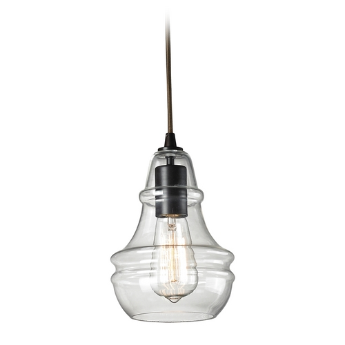 Elk Lighting Mini-Pendant Light with Clear Glass 60047-1