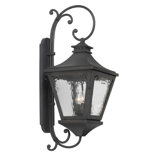 Elk Lighting Outdoor Wall Light with Clear Glass in Charcoal Finish 6712-C