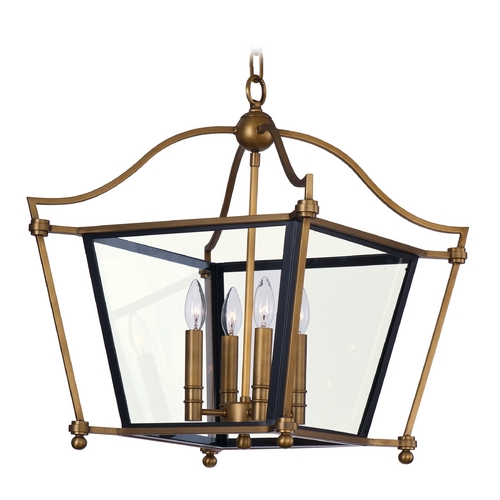 Maxim Lighting Maxim Lighting Ritz Natural Aged Brass Chandelier 22395CLNAB