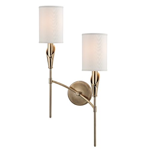 Hudson Valley Lighting Hudson Valley Lighting Tate Aged Brass Sconce 1312R-AGB