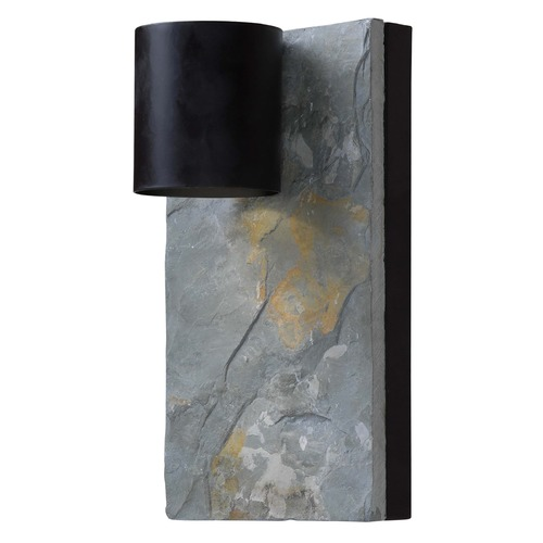 Kenroy Home Lighting Kenroy Home Lighting Frederick Oil Rubbed Bronze with Slate Outdoor Wall Light 93541ORB