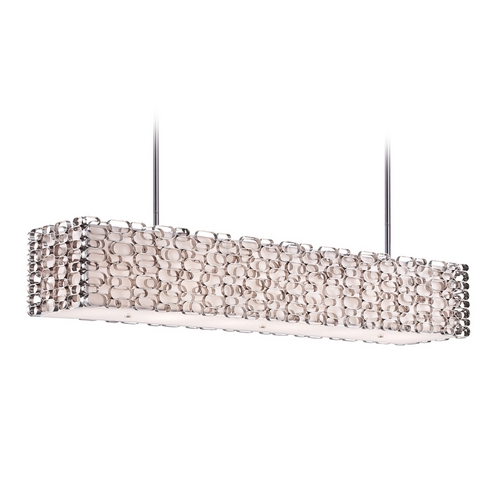 Avenue Lighting Avenue Lighting Ventura Blvd Polished Nickel Island Light with Rectangle Shade HF1701-PN