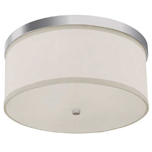 Capital Lighting Capital Lighting Polished Nickel Flushmount Light 2015PN-480