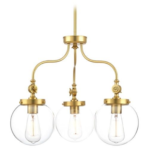 Progress Lighting Progress Lighting Penn Natural Brass Chandelier P4769-137