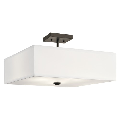Kichler Lighting Modern Semi-Flushmount Light Olde Bronze Shailene by Kichler Lighting 43693OZ