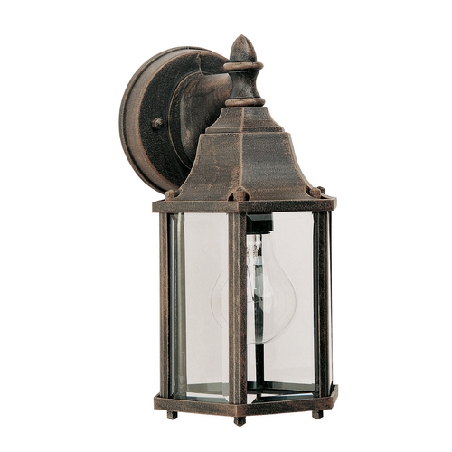 Maxim Lighting Outdoor Wall Light with Clear Glass in Rust Patina Finish 1026RP