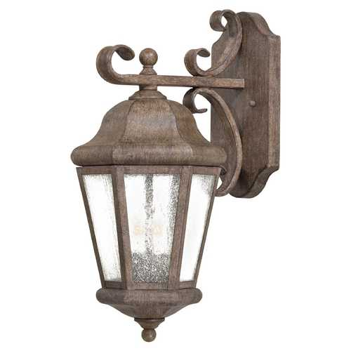 Minka Lavery Outdoor Wall Light with Clear Glass in Vintage Rust Finish 8612-A61