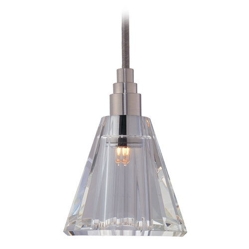 Hudson Valley Lighting Modern Mini-Pendant Light with Clear Glass 3511-SN-S-003