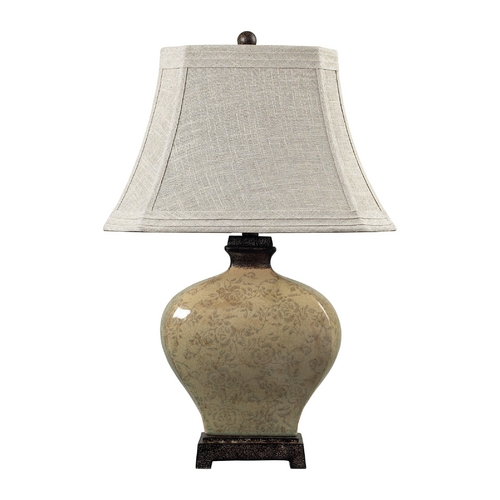 Dimond Lighting Table Lamp with Grey Shade in Sky Valley with Bronze Finish 113-1132