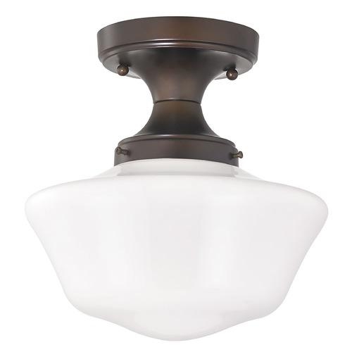 Design Classics Lighting 10-Inch Wide Bronze Retro Style Schoolhouse Ceiling Light FDS-220 / GA10