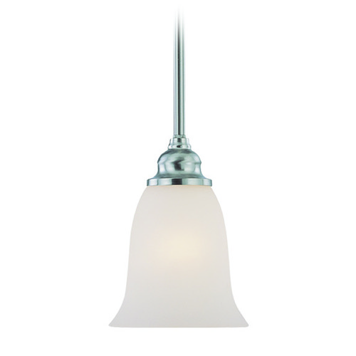 Jeremiah Lighting Jeremiah Linden Lane Satin Nickel Mini-Pendant Light with Bell Shade 26321-SN