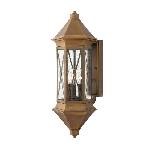 Hinkley Lighting Outdoor Wall Light with Clear Cage Shades in Sienna Finish 2295SN