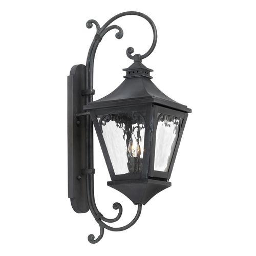 Elk Lighting Outdoor Wall Light with Clear Glass in Charcoal Finish 6711-C
