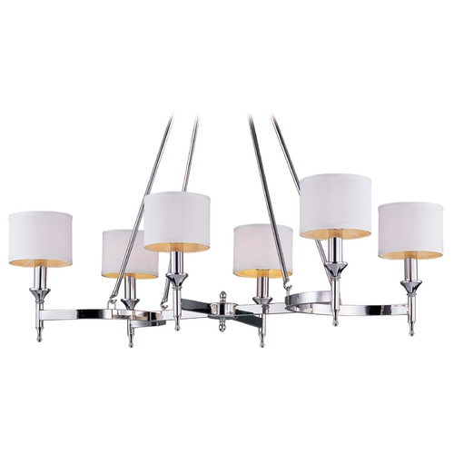 Maxim Lighting Maxim Lighting Fairmont Polished Nickel Chandelier 22376WTPN