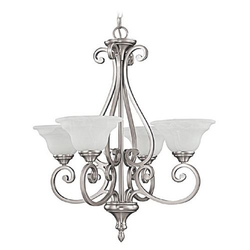 Capital Lighting Capital Lighting Chandler Matte Nickel Chandelier 3074MN-222