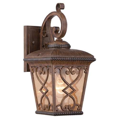 Quoizel Lighting Quoizel Fort Quinn Antique Brown Outdoor Wall Light FQ8407AW