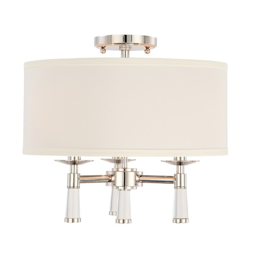 Crystorama Lighting Crystorama Lighting Baxter Polished Nickel Semi-Flushmount Light 8863-PN_CEILING