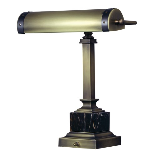 House of Troy Lighting House Of Troy Steamer Antique Brass with Mahogany Bronze Accents Piano / Banker Lamp DSK440-ABMB