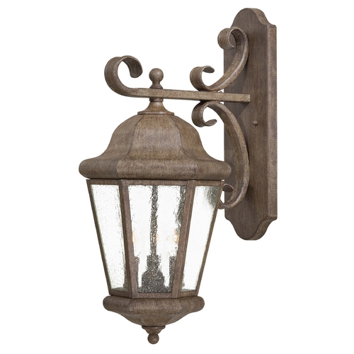 Minka Lavery Outdoor Wall Light with Clear Glass in Vintage Rust Finish 8613-A61
