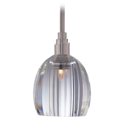 Hudson Valley Lighting Modern Mini-Pendant Light with Clear Glass 3511-SN-S-004
