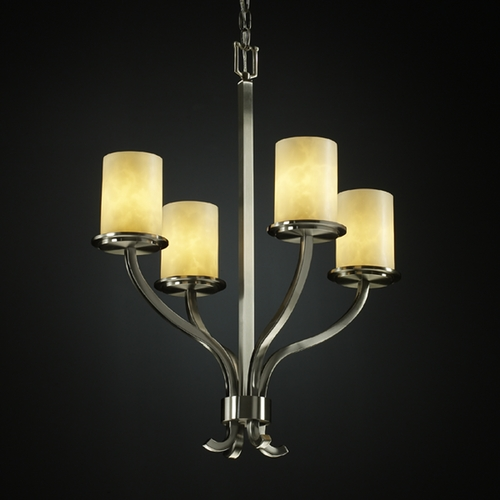 Justice Design Group Justice Design Group Clouds Collection Chandelier CLD-8780-10-NCKL