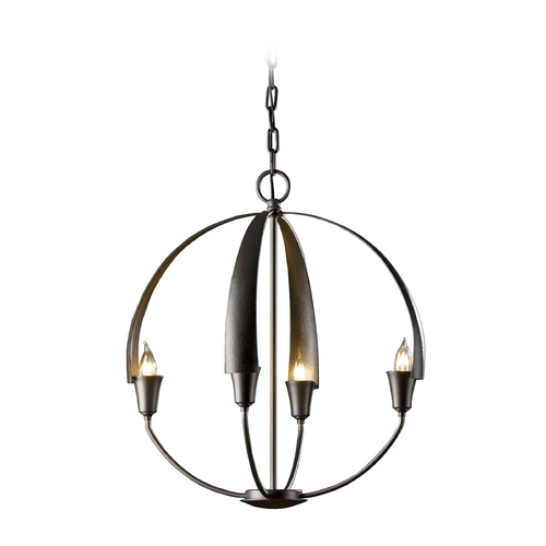 Hubbardton Forge Lighting Forged Iron Small Orb Pendant Chandelier Light 104201-07