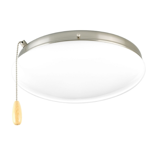 Progress Lighting Progress Light Kit with White Glass in Brushed Nickel Finish P2602-09