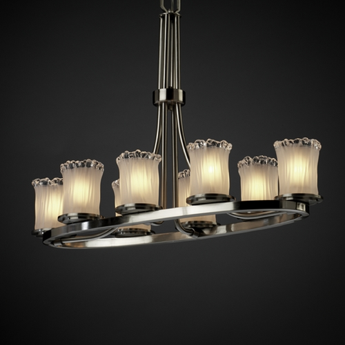 Justice Design Group Justice Design Group Veneto Luce Collection Chandelier GLA-8751-16-WTFR-NCKL