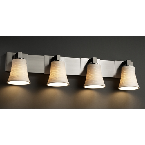 Justice Design Group Justice Design Group Limoges Collection Bathroom Light POR-8924-20-WAVE-NCKL