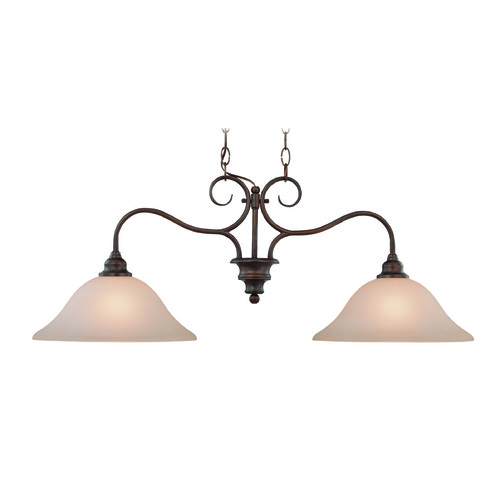 Jeremiah Lighting Jeremiah Linden Lane Old Bronze Island Light with Bowl / Dome Shade 26322-OB