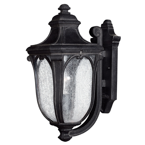 Hinkley Lighting Outdoor Wall Light with Clear Glass in Museum Black Finish 1314MB-GU24