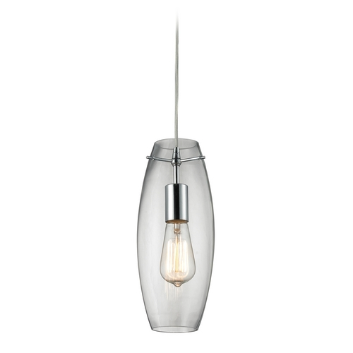 Elk Lighting Mini-Pendant Light with Clear Glass 60054-1