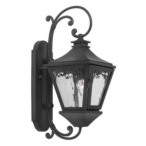 Elk Lighting Outdoor Wall Light with Clear Glass in Charcoal Finish 6710-C