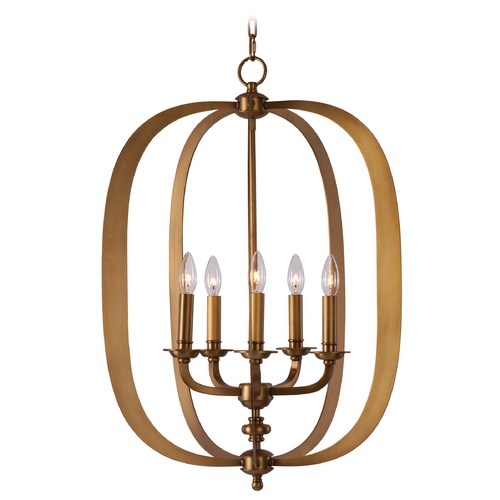 Maxim Lighting Maxim Lighting Fairmont Natural Aged Brass Pendant Light 22373NAB